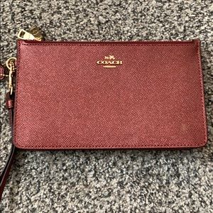 Coach Holiday Red Clutch